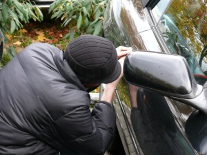 car theft - keys in car
